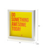 Thinkpot Paper & Acrylic 8 x 8 Inch Do Something Awesome Today Box Framed Poster