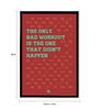 Thinkpot Paper 12 x 1.5 x 18 Inch The Only Bad Workout Framed Digital Poster
