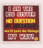 Thoughtroad Maroon Plastic & Paper Big Sister Fridge Magnet