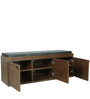 Three Door Shoe Rack with Seat in Brown Colour by Parin