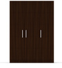 Three Door Wardrobe in Brazilian Walnut finish in  Ply By Primorati