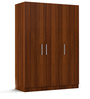 Three Door Wardrobe in Classic Walnut Finish in PLPB by Primorati