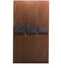 Three Door Wardrobe in Dark Brown Colour by Parin