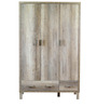 Haruna Three Door Wardrobe in Natural Finish by Mintwud