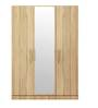 Three Door Wardrobe in Asian Maple Finish in PLPB by Primorati