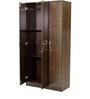 Takuma Three Door Wardrobe in Wenge Finish by Mintwud