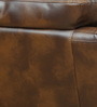 Three Seater Motorized Half Leather Recliner in Mocha Colour by Star India