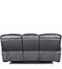 Three Seater Half Leather Recliner Sofa in Black Colour by Star India