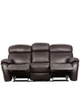 Three Seater Half Leather Recliner Sofa in Brown Colour by Star India