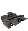 Three Seater Recliner Sofa in Half Leather Dark Brown Colour by Star India