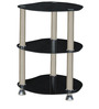 Three Shelf Corner Table in Black Colour by Parin