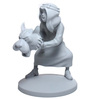 Tintin Abdullah Grey Monochrome Statue