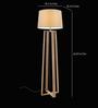 Tisva White Fabric Scintiller Floor Lamp