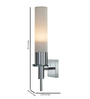 Tisva White Mild Steel & Glass Allium Wall Light