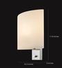 Tisva White Mild Steel & Glass Chiaro Wall Light