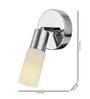 Tisva White Mild Steel & Glass El Espectaculo Wall Light