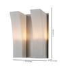 Tisva White Mild Steel & Glass Lynnea Wall Light