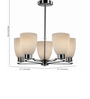 Tisva White Steel and Glass Coquin Chandelier