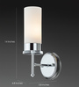 Tisva White Steel & Glass Eva Feyyo Wall Light