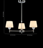 Tisva White Steel & Glass Hester Chandelier