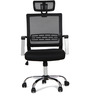 Titus High Back Mesh Wt Headrest Black by Hometown