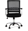Titus Medium Back Mesh Chair Black by Hometown