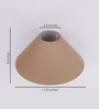 TLS by Kapoor Lampshades Beige Cotton Conical Lamp Shade