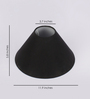 TLS by Kapoor Lampshades Black Cotton Conical Lamp Shade