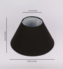 TLS by Kapoor Lampshades Black Cotton Empire Lamp Shade
