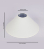 TLS by Kapoor Lampshades White Cotton Conical Lamp Shade