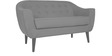 Zephyr Two Seater Sofa in Light Grey Colour by CasaCraft