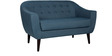 Zephyr Two Seater Sofa in Navy Blue Colour by CasaCraft