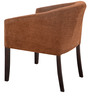 Toby Tub Chair in Mocha Fabric & Walnut Finish by Inliving