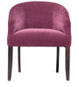 Toby Tub Chair in Plum fabric and walnut by Inliving
