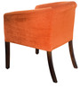 Toby Tub Chair in Tangerine fabric and walnut by Inliving