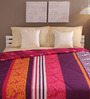 Tomatillo Blue & Pink Cotton Queen Size Comforter