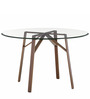 Tomos Four Seater Dining Table in Golden Colour by Asian Arts
