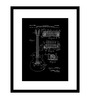 Top Art Synthetic Wood 14 x 12 Inch Everything About Guitar Framed Reprint Wall Painting