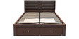 Triumph Queen Bed with Hydraulic Storage in Dark Walnut Colour by @home