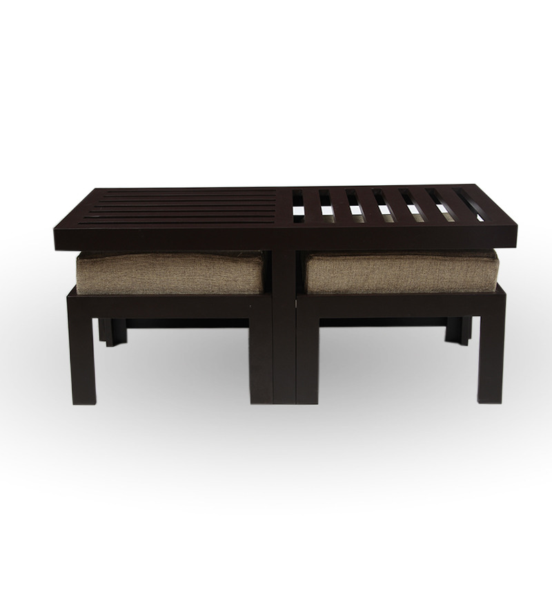 Trendy Coffee Table With Two Stools Jute By Purple Heart