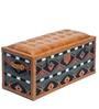 Traditional Textile Genuine Leather Seating cum Storage Trunk By Studio Ochre