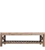 Transitional Coffee Table with a Low Slatted Shelf by AfyDecor