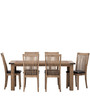 Transitional Six Seater Dining Set with a Rustic Chic Look by Afydecor