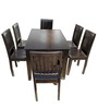 Transitional Six Seater Dining Set in Brown Color by Afydecor