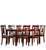Transitional Six Seater Dining Set with Square Design Back by Afydecor