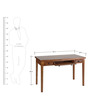 Transitional Study Table with Classic metal Hardware by AfyDecor