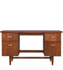 Transitional Study Table with Slats and Spacious Drawers by AfyDecor