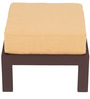 Trendy Coffee Table Set with Two Stools in Light Brown Colour by ARRA