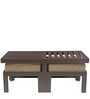 Trendy Coffee Table with Two Jute Cushioned Stools by ARRA