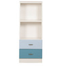 Trendy Space Saving Small-Sized Vertical Book Shelf in Blue Colour by Child Space